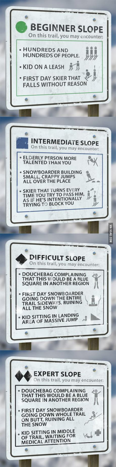 Pretty much sums up all ski trails.