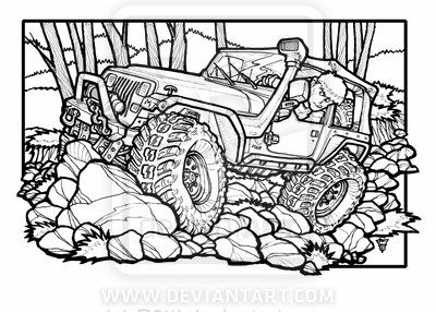 Cartoon Jeep Cherokee Drawings Google Search Jeep Art Jeep Drawing Jeep Yj
