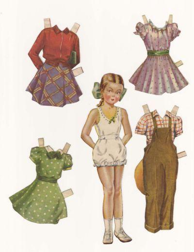 1940s Paper Doll Vintage Paper Dolls Paper Dolls Paper Dolls Printable