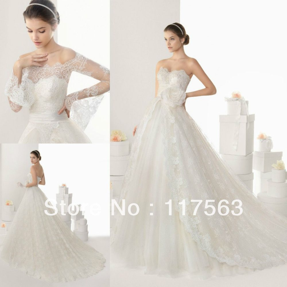 Rosa Clara 2014 New Fashion Vintage Princess Sweetheart With Jacket Lace Wedding Dress Bridal Gown Free Shipping HS199