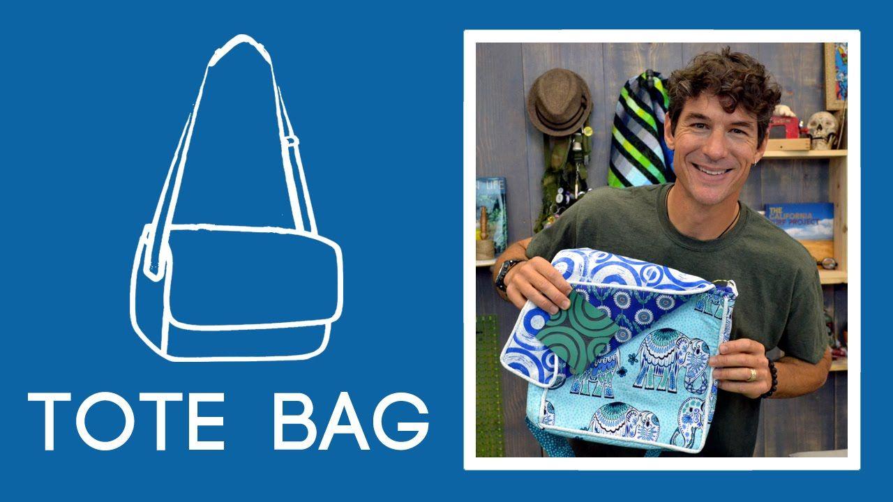 Make A Cool Tote Bag With Pockets Piping And Lining Tote Bag With Pockets Missouri Star Quilt Company Tutorials Diy Tote Bag