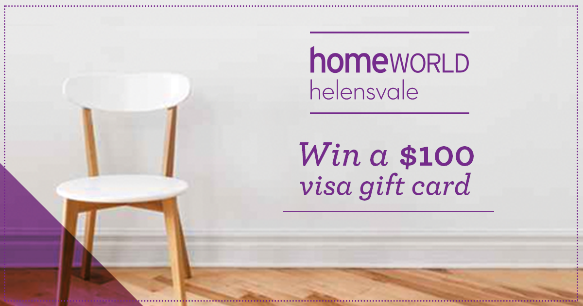 WIN A $100 Gift Voucher To Spend At Homeworld Helensvale!