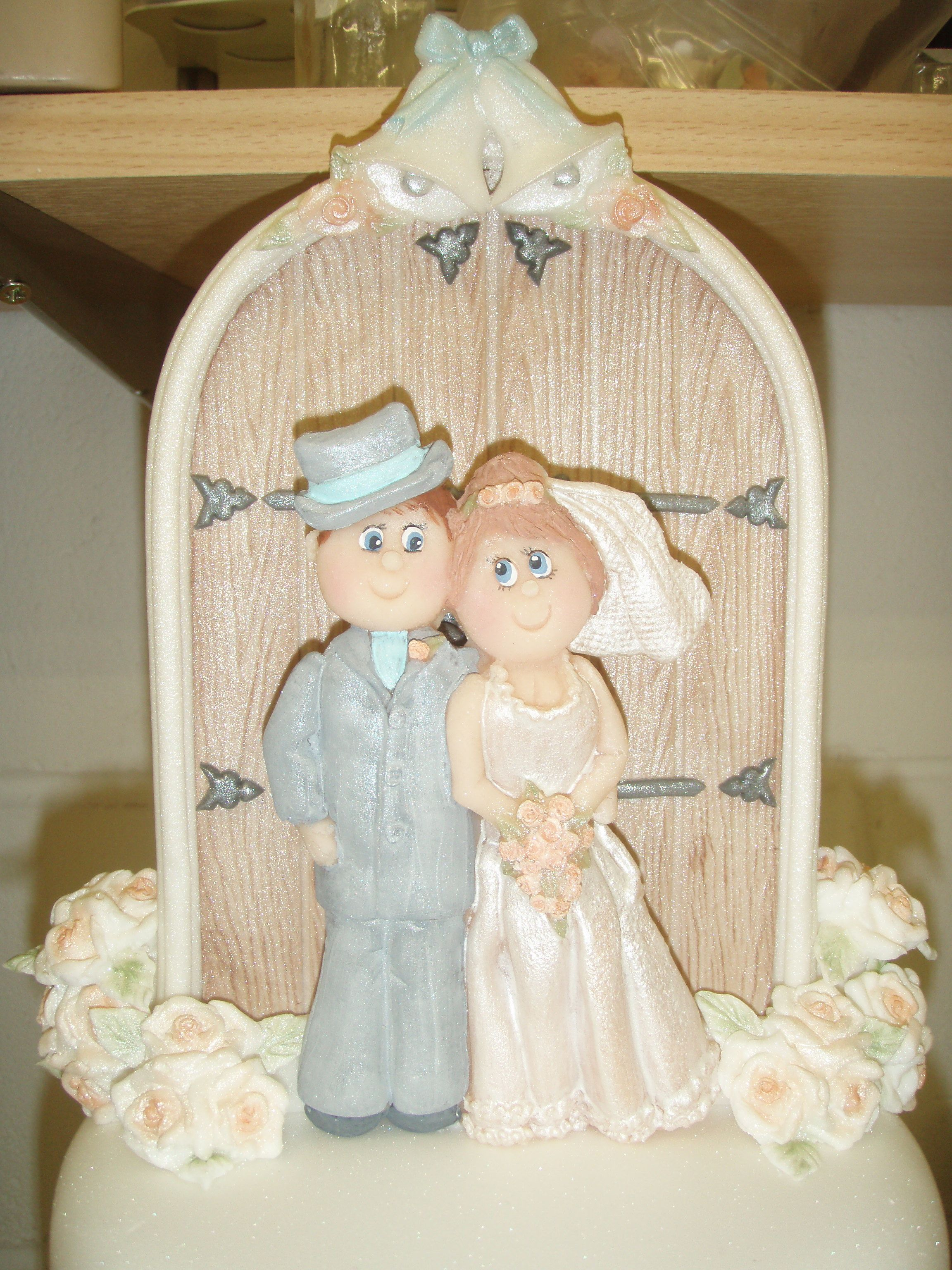 Bride and groom wedding cake topper I made using our Bride & Groom ...