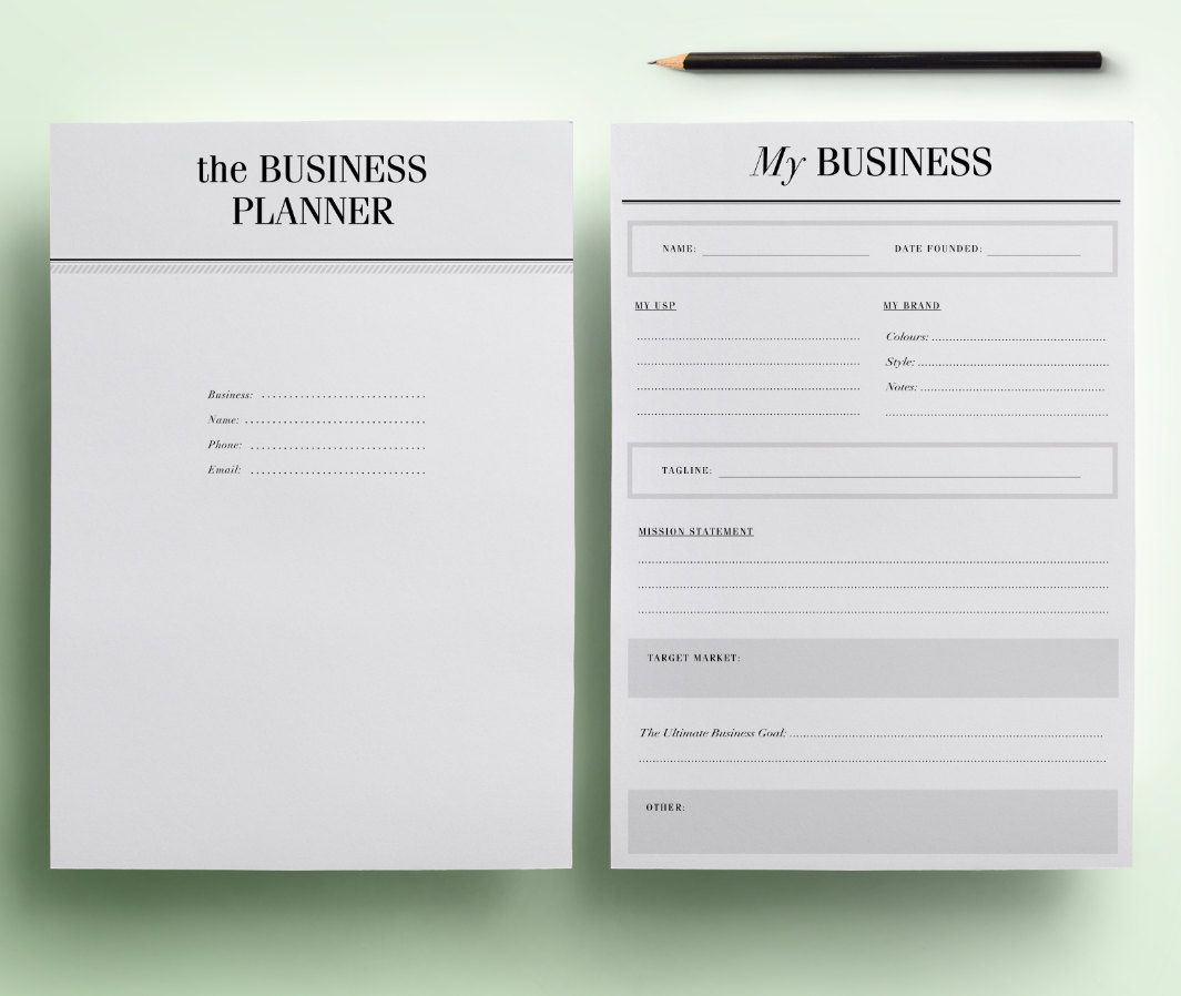 Small Business Planner Printable / Etsy Business Planner