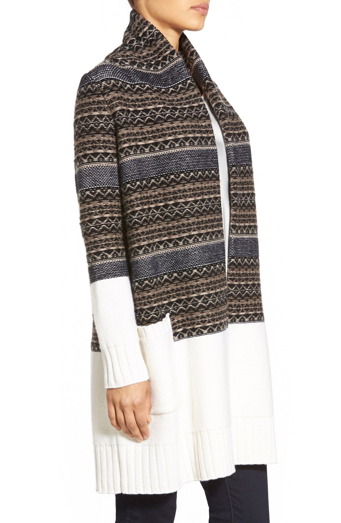 Women's Nordstrom Collection Fair Isle Long Wool & Cashmere ...
