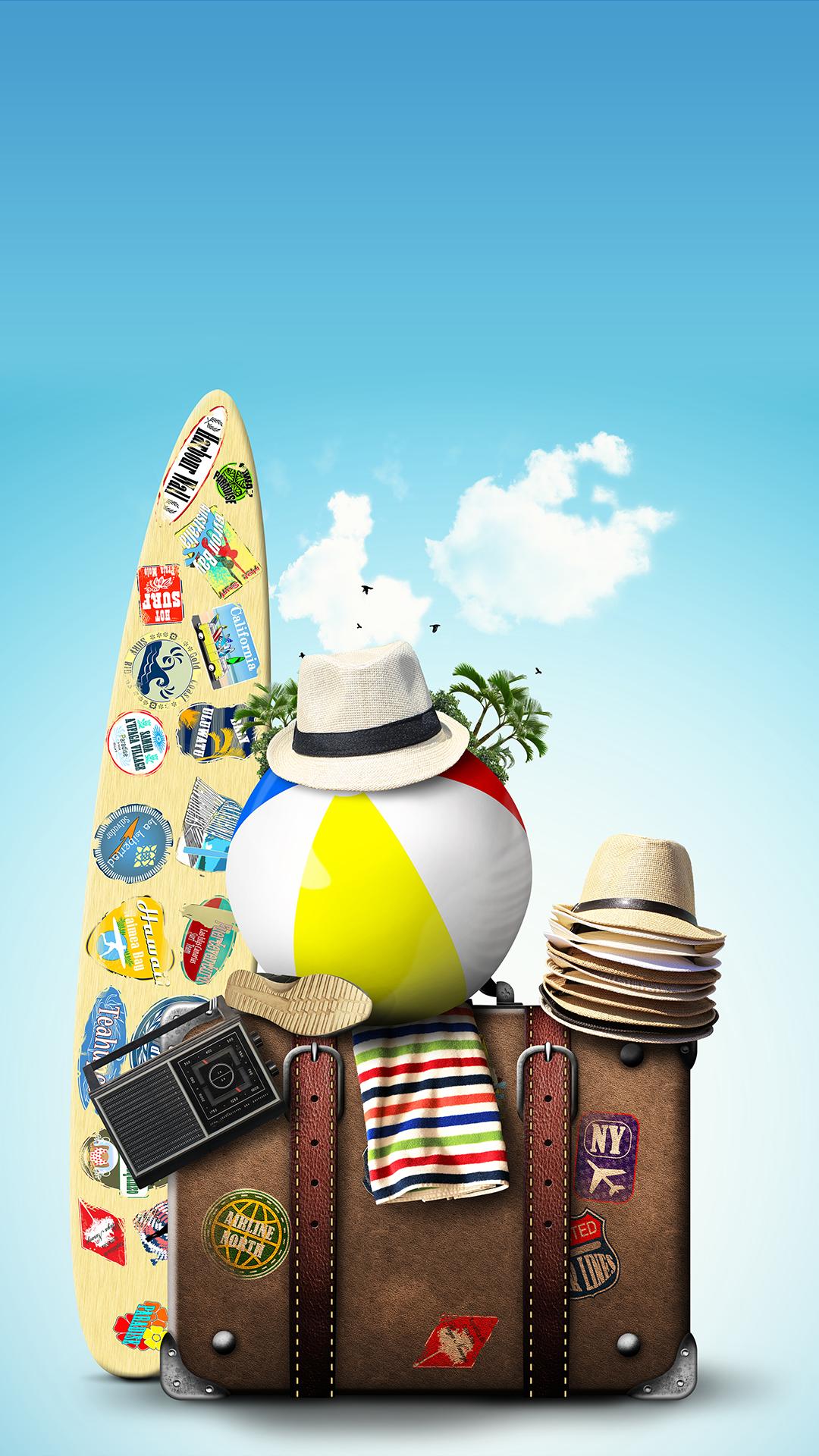 TAP AND GET THE FREE APP! Art Creative Sky Bag Beach