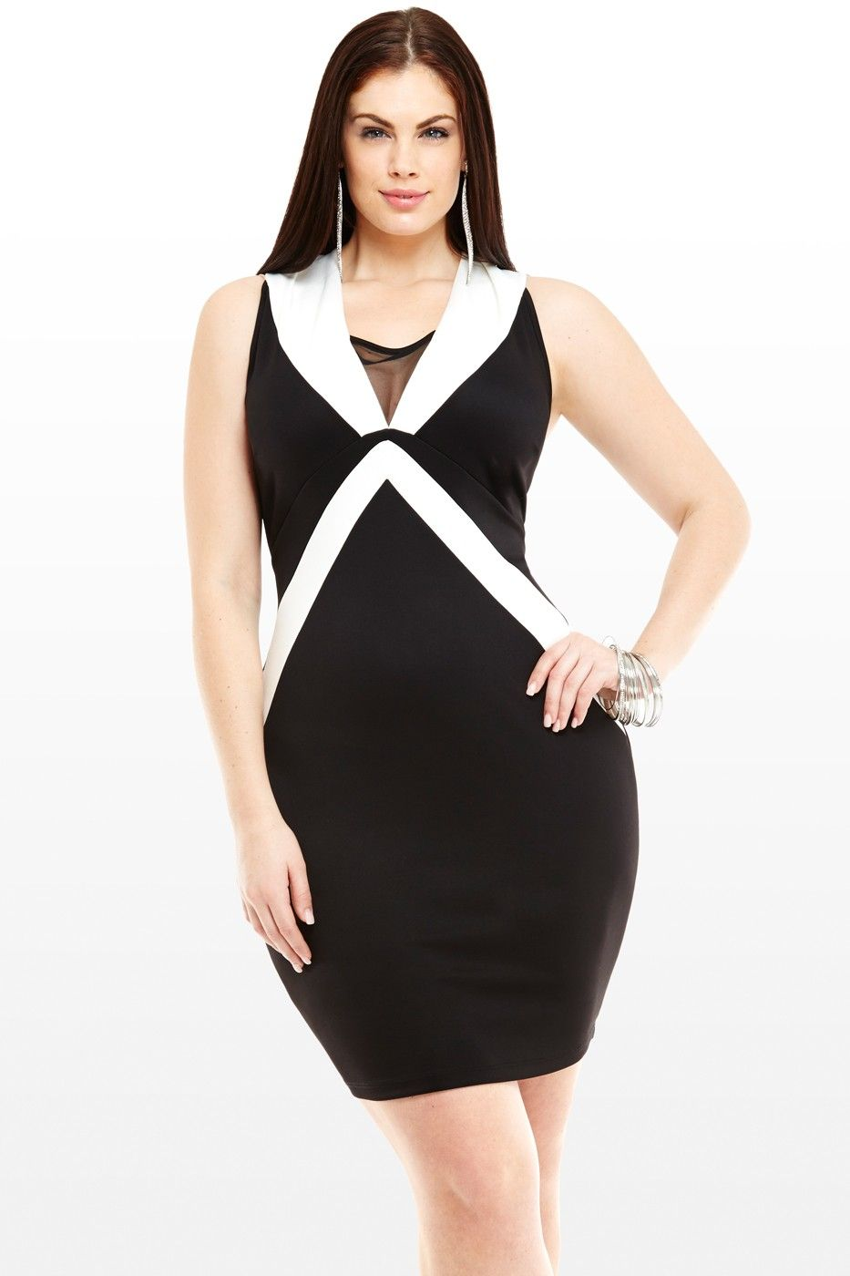 Ella Black and White Colorblock Dress | All dolled up! | Dresses ...