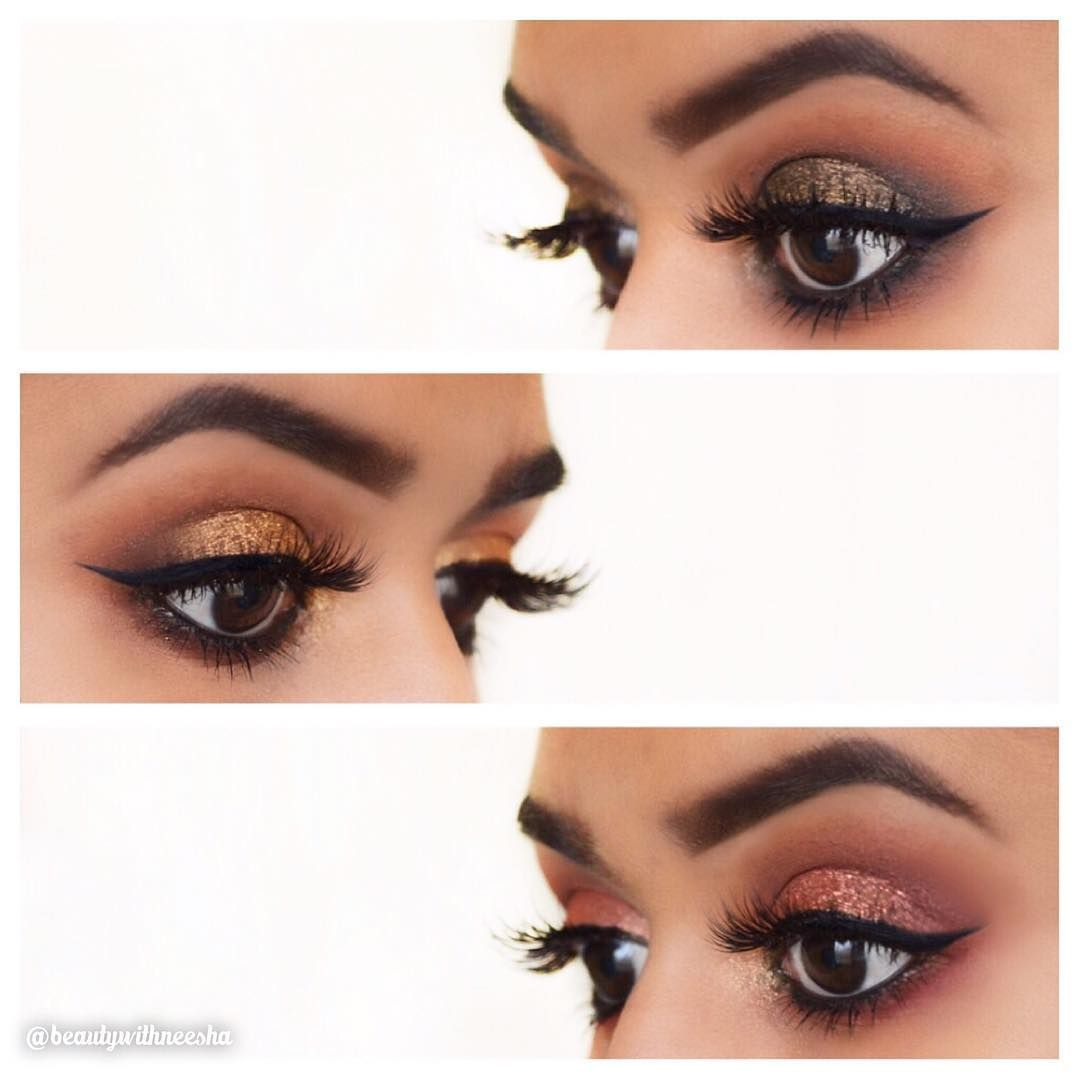 Three looks with the @hudabeauty Rose Gold Palette! I've been loving this palette ever since I bought it and I have a review and swatches of all the shades on my blog! Link is in my bio if you are interested ❤️ Lashes are also Huda Beauty in the style Farah -------------------------------------------- Top:  Bae, Sandlewood, Henna, Coco, Black Truffle and Dubai -------------------------------------------- Middle: Bae: Sandlewood, Henna, Bossy, Coco, Blessed and 24k ------------------------...