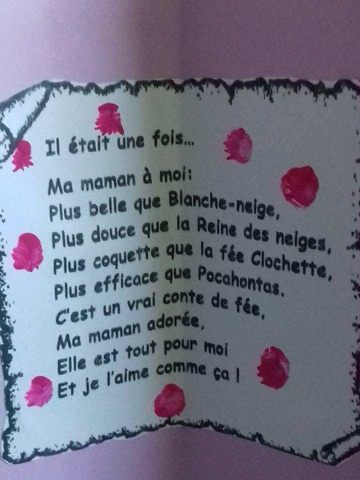 épinglé Par Aurélie Schyns Sur Fête Des Mamans Poème Fête