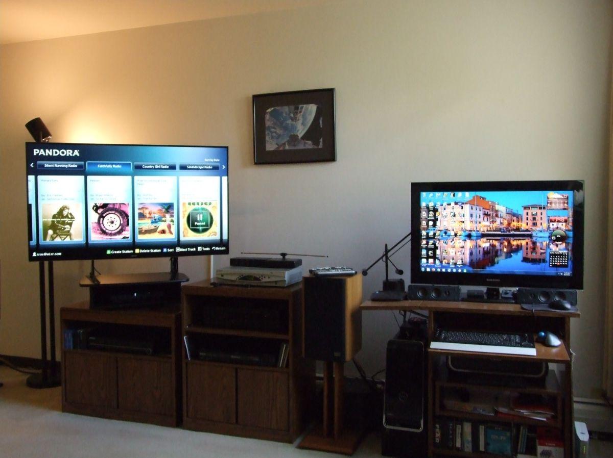 updated setup purchased a 50in samsung smart tv made. Black Bedroom Furniture Sets. Home Design Ideas