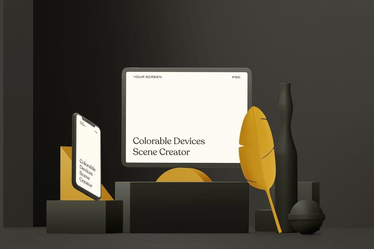 Colorable Devices Scene Creator Sticker Design Scene Creator Iphone Mockup