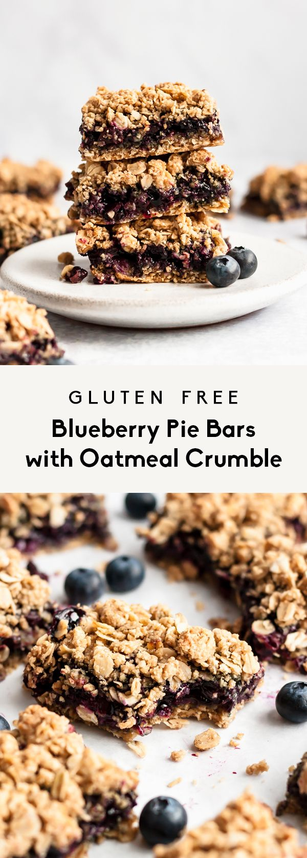 Blueberry Pie Bars with Oatmeal Crumble | Ambitious Kitchen