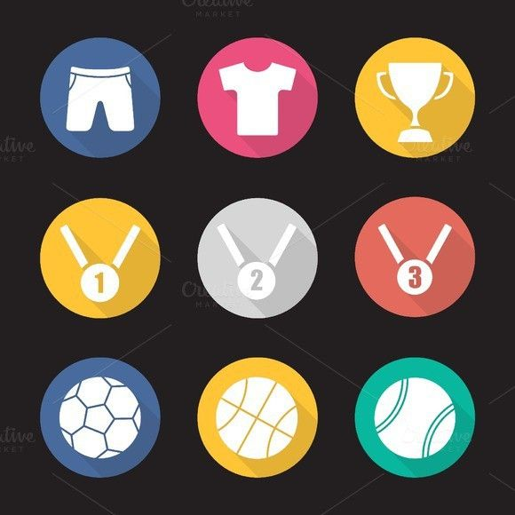 Sport Equipment Icons Vector Sport Icons 5 00 Sport