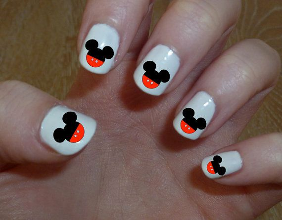 Adorable Mickey Mouse Ears Nail Decal Disney Nailart Mickymouse