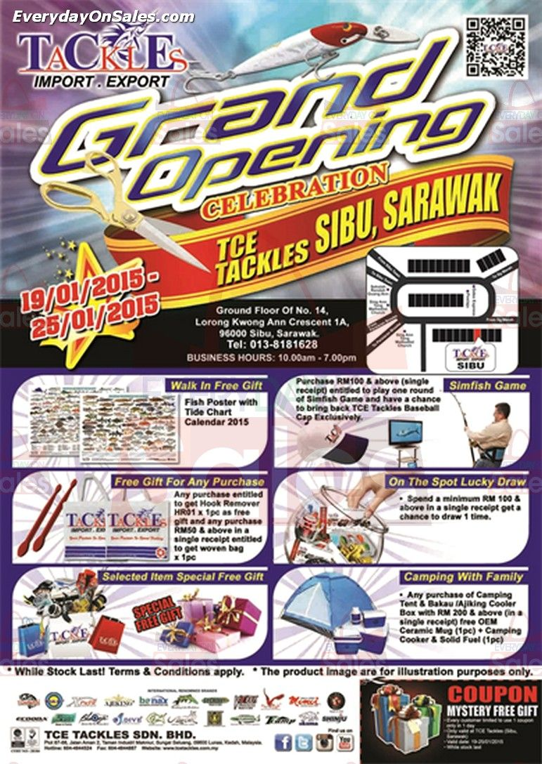 Tce Tackles Renovation Special Promotion In Malaysia Grand Opening Tackle Special Promotion