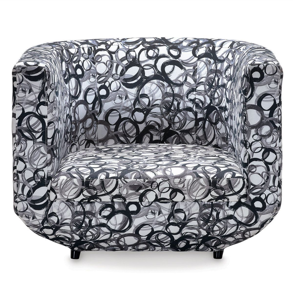Mickey mouse having a ball chair by ethan allen in interior