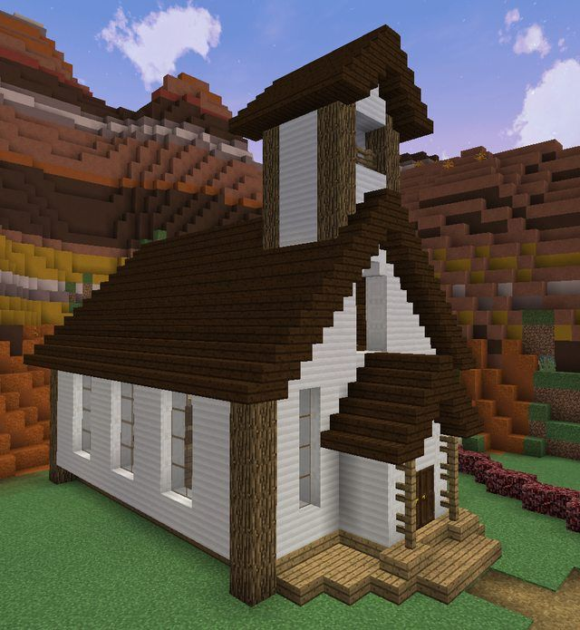 Small Church Built By U Mgraunk In His Mesa Town Minecraft Room Minecraft Houses Blueprints Easy Minecraft Houses