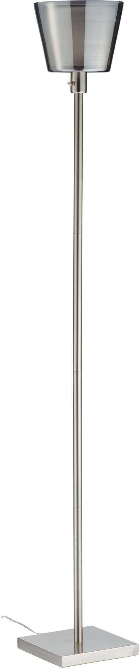 Prescott Tall Floor Lamp Tall Floor Lamps Brushed Steel Lamp Torchiere Floor Lamp