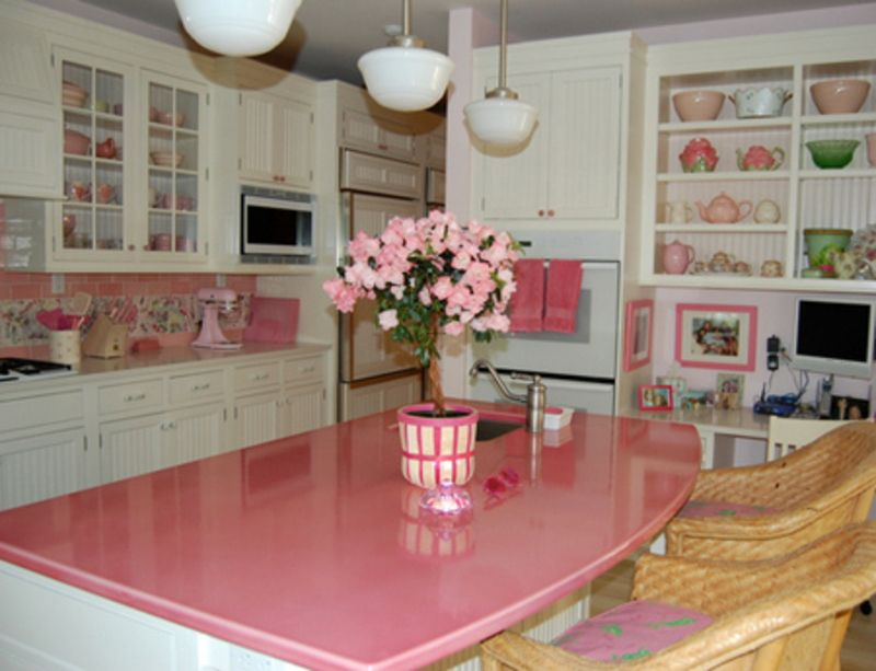 pink kitchen ideas and color schemes home decor kitchen colors pink kitchen cabinets on kitchen decor pink id=23239