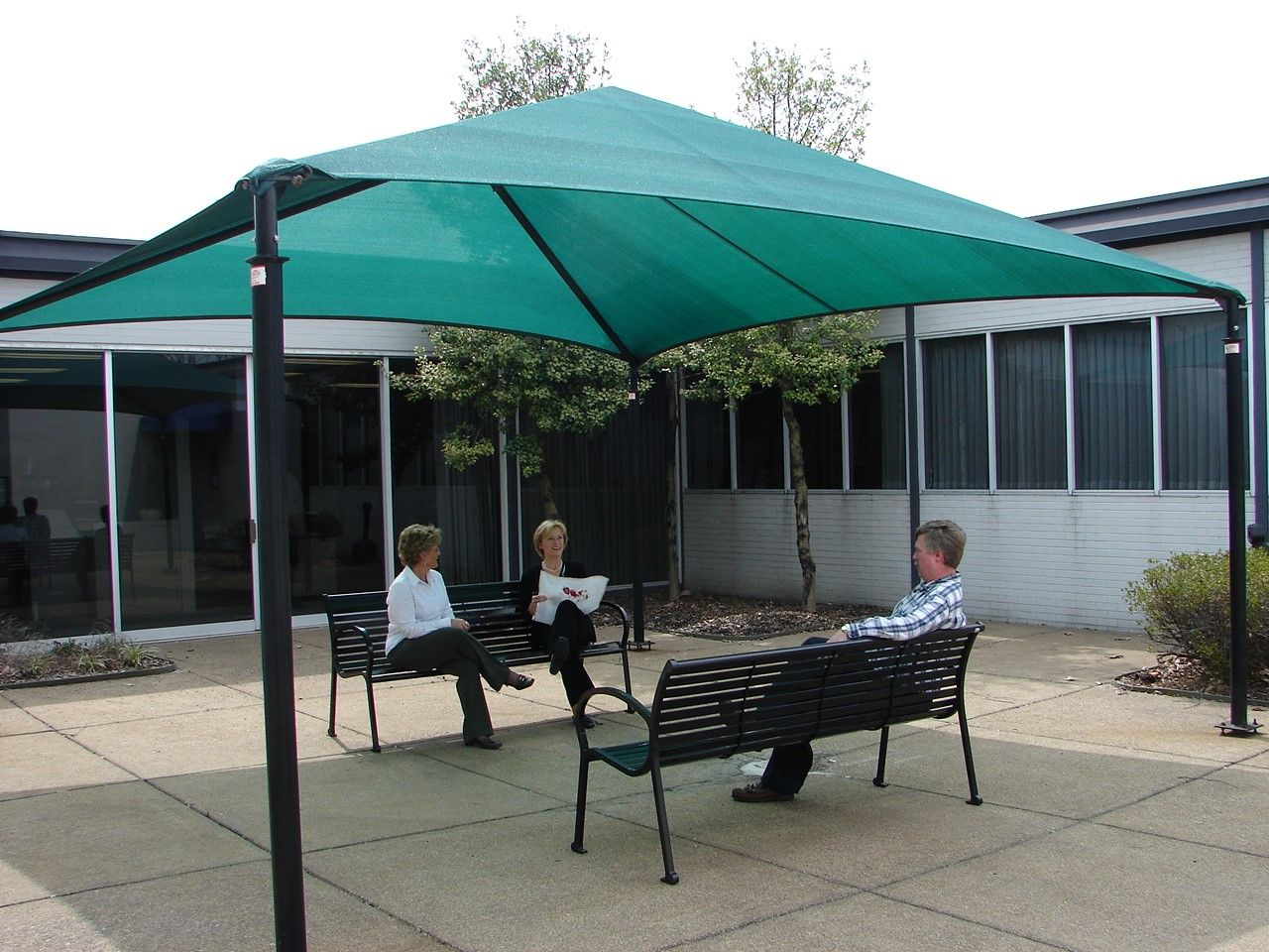 Anchor Industries Funbrella perfectshade works great in courtyards or break areas like