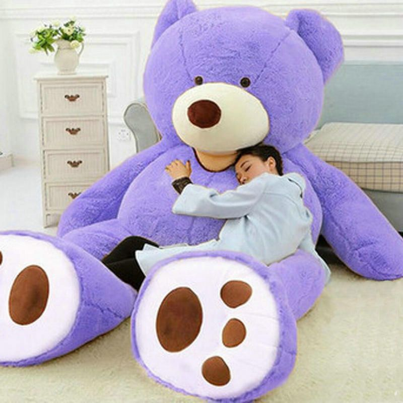 ONLY COVER SUPER HUGE big bear PLUSH TOY SHELL WITH ZIPPER 200cm No filler