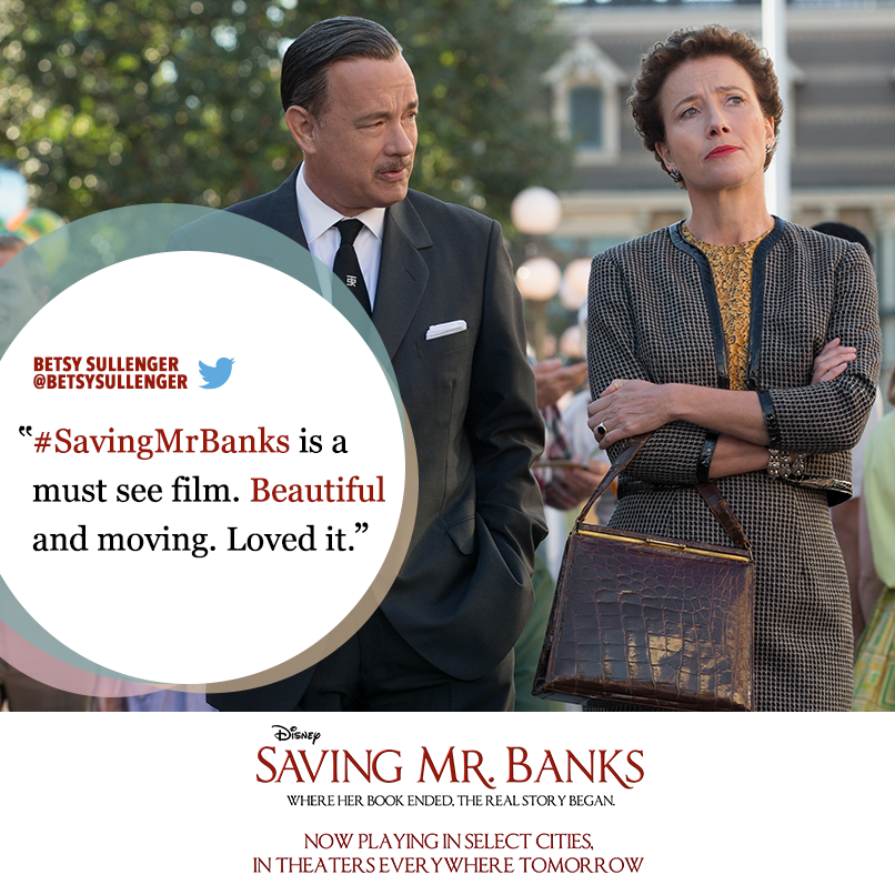 Fans Are Calling Savingmrbanks Beautiful Have You Seen It Yet Tweet Your Thoughts With Savingmrbanks For A With Images Saving Mr Banks Disney Savings Disney And More