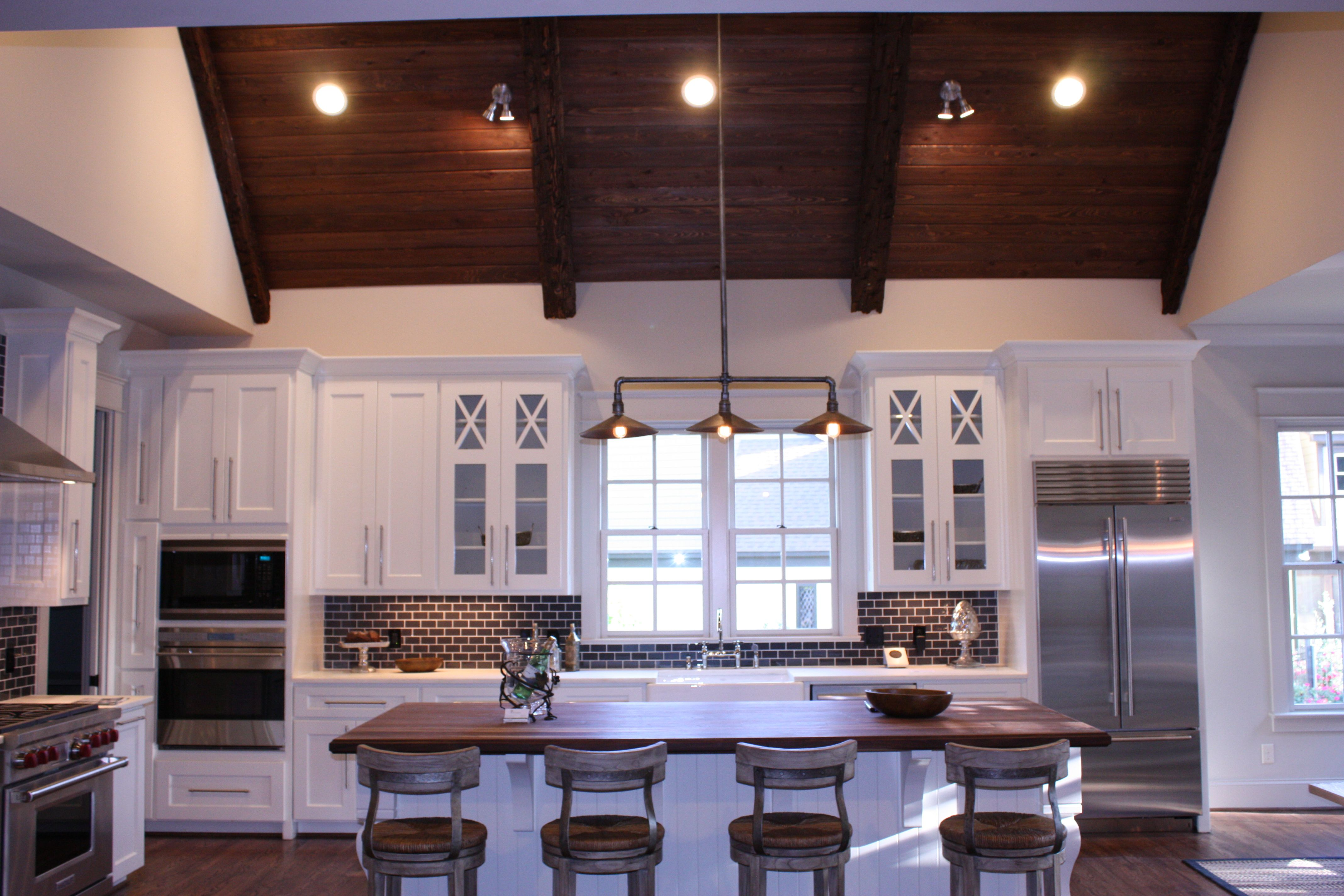 Kitchen with raised ceilings Home kitchens, House, Home