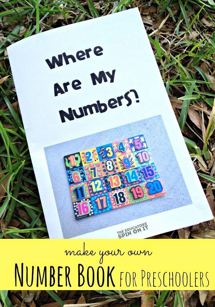 DIY Number Book for Preschoolers Preschool books