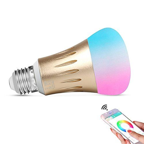 Expower Smart WiFi Light,E27 Smart Bulb Dimmable 6 5W RGB