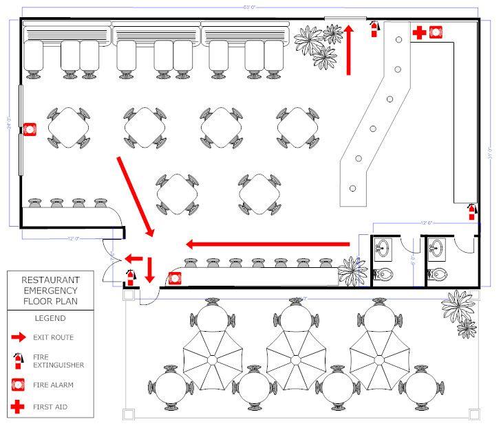 Restaurant evacuation floor plan Restaurant Floor plan Pinterest - restaurant business plan template