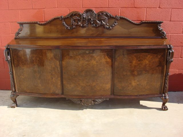 Antique Furniture French Antique Hand Carved Chippendale Sideboard