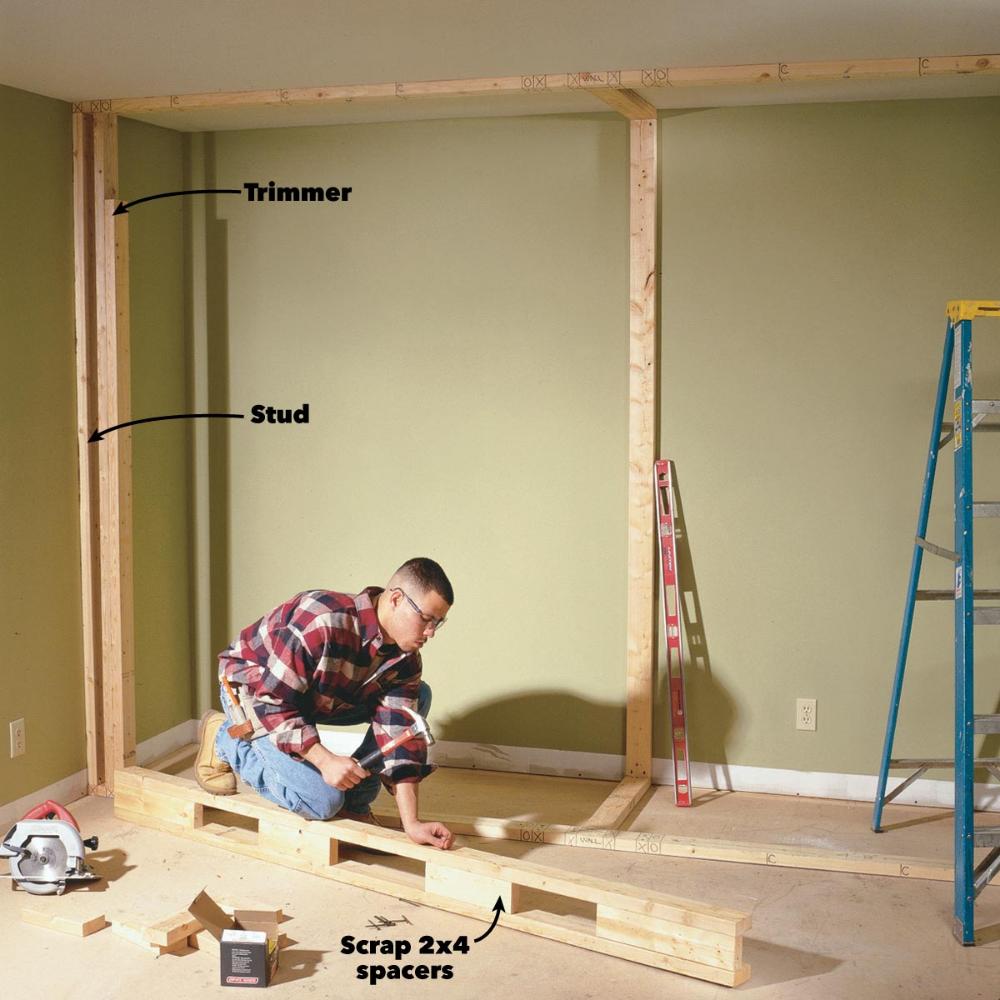 How to Build a WalltoWall Closet with Doors Build a