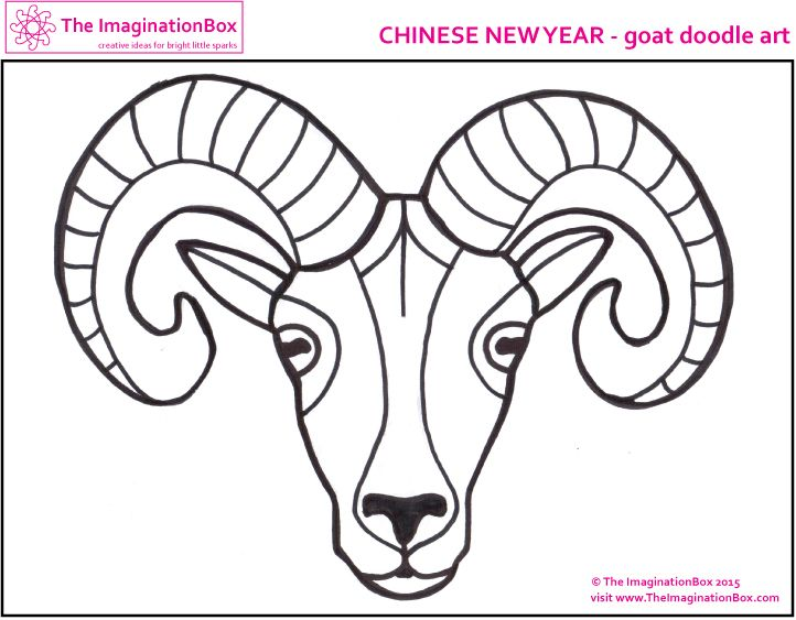 Chinese New Year Kids Art Craft Activities Printables Free Downloads Colouring Sheets Featuring Dragon Goat Horse Lantern Blossom Snake