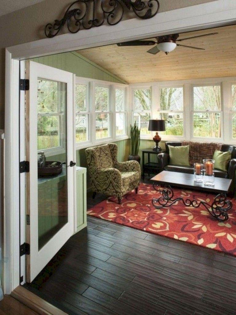 Home Additions Sunroom Decorating Four Seasons Room: 43+ Amazing Farmhouse Sunroom Makeover Ideas #farmhouse #makeover #ideas