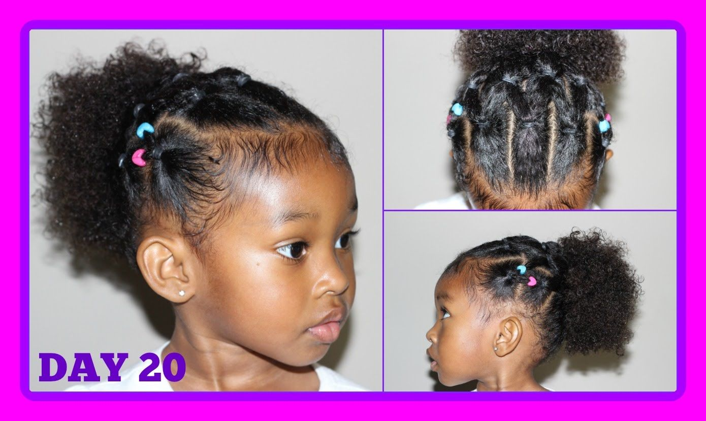Cute Hairstyle For Curly Hair Kids 30 Days Of Hairstyles Day 20 Youtube Kids Curly Hairstyles Curly Hair Styles Kids Hairstyles