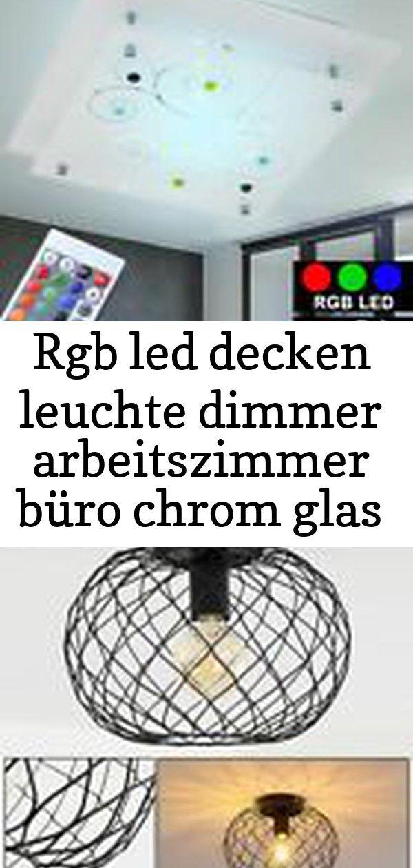 Rgb Led Decken Leuchte Dimmer Arbeitszimmer Buro Chrom Glas Lampe Big Light Beleuchtung Vintage Decken Lampen Flur Strahler Schwarze Woh Decor Home Decor Lamp