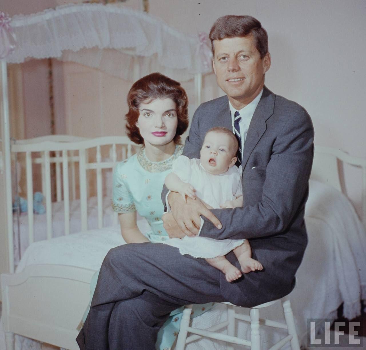 Sen. Kennedy And Baby Photographer:Nina Leen