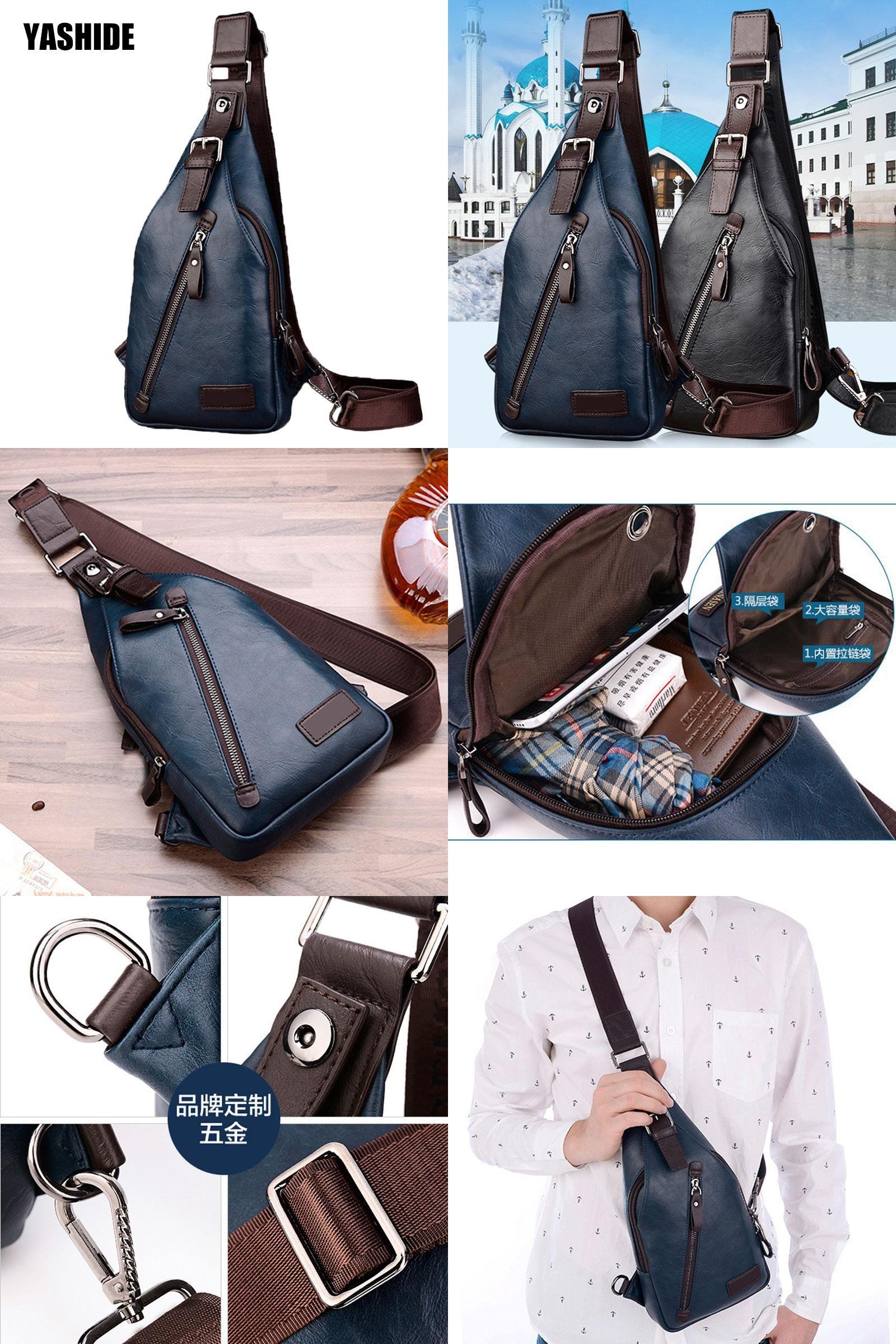2a41b36209  Visit to Buy  Hot Retro zipper designer men chest bags famous brand man  travel