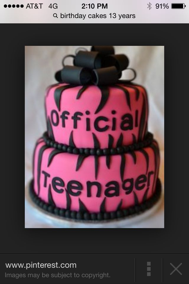 This Cake Is A Great 13 Year Old Birthday Cake Cakes Pinterest