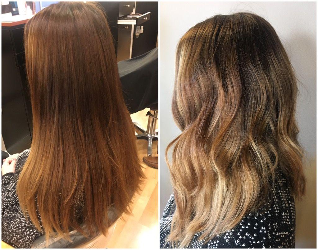 Balayage Blond Brown Brunette Hair Color Lob Hair Cut St Louis Mo