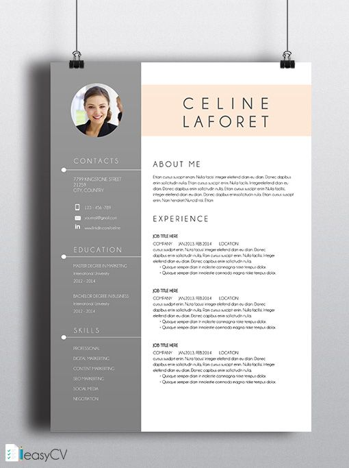 THUMBNAIL-CV-CELINE-ENGLISH-LS Work outfits Pinterest Cv - is a cv the same as a resume