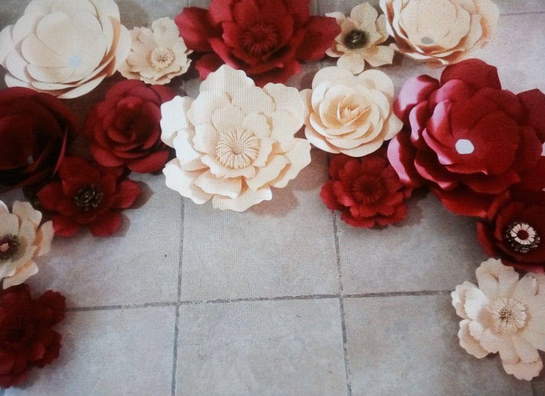 Red love, flores de papel.
