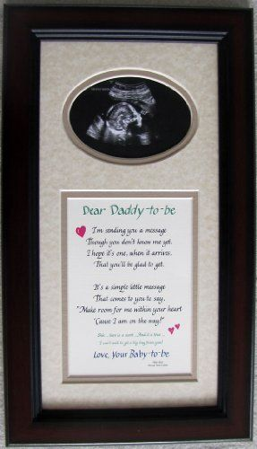 Daddy To Be Ultrasound Picture Frame 7x14 Dad Giftamazonhome