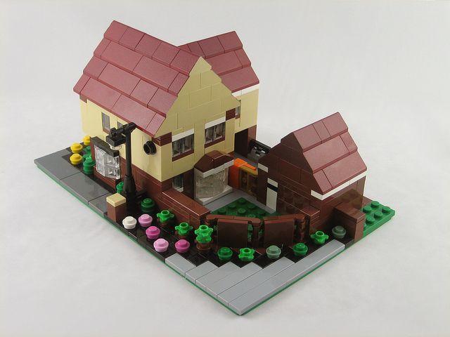 Mini Scale Lego House Lego House Lego Projects Micro Lego