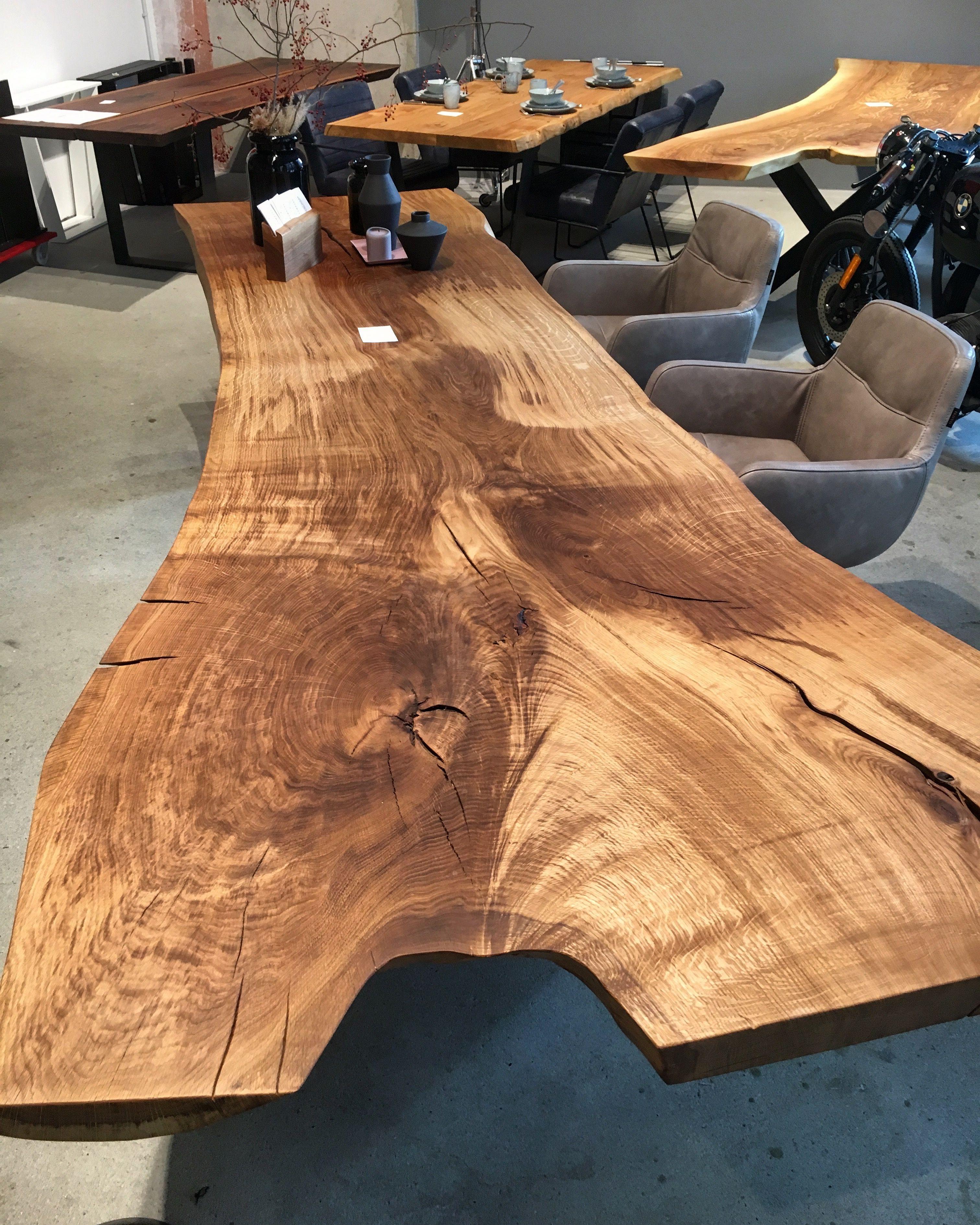 Massivholztisch Aus Einem Stuck Baumtisch Stammtisch Esstisch Tisch Holztisch Table Baumplatte Tischplatte Holzwerk Hamburgde