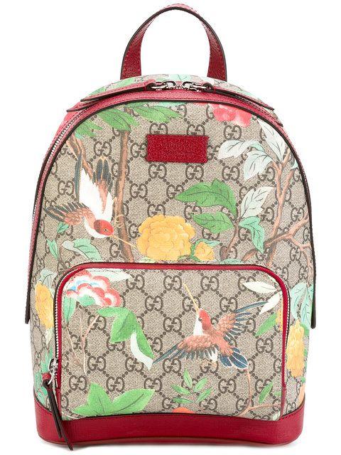 23b88114babd Small Gg Supreme Tian Print Backpack   Pinterest