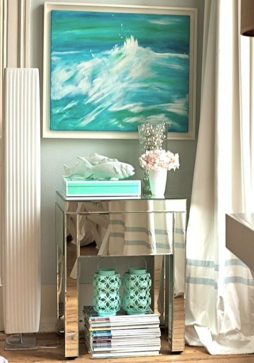 Bringing Glamour To Coastal With Mirrored Furniture Decor