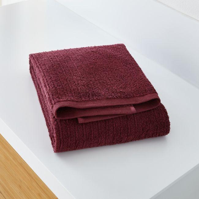 Ribbed Plum Bath Towel Reviews Crate And Barrel Crate Barrel Towel Bath Towels