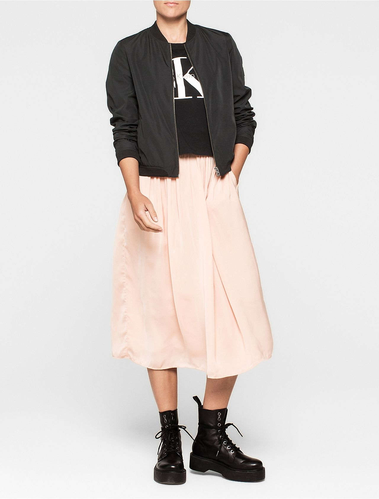 e246de32bd Pleated satin midi skirt | Style Me | Satin midi skirt, Midi skirt ...