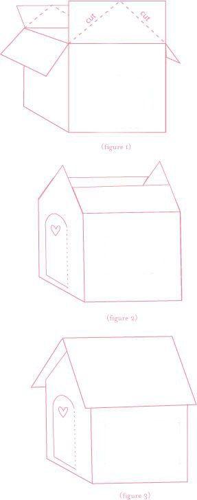 Casitas de jengibre hechas con cajas de cartón | casitas de dulces ...